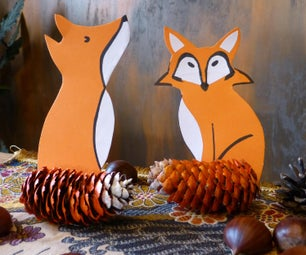 Pinecone Foxes - Autumn Decoration