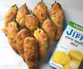 Easy Cheesy Cornbread Jalapeno Poppers