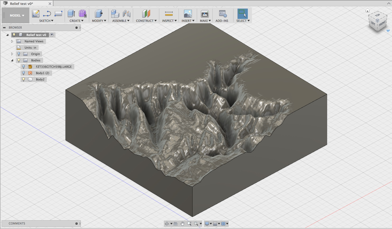 3D CNC Relief Sculpture - Fusion 360