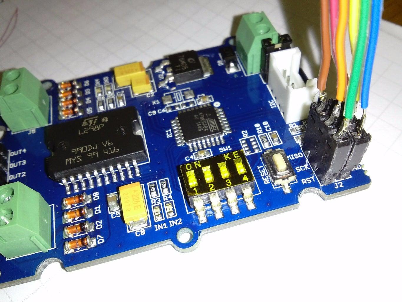 Upgrade I2C Motor Drivers Firmware