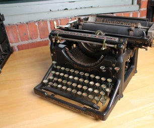 Installing USB Typewriter Kit on Underwood #5 Desktop