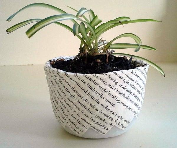 InstaMorph - Book Decorated Flower Pot