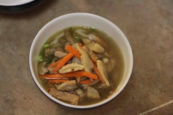 Asian-esque Improv (Noodle Soup)