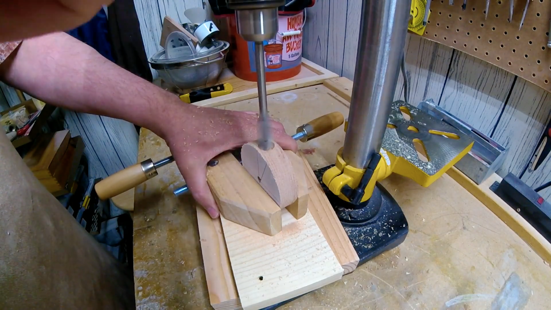 Drill Out Holes to Connect Wood & Metal