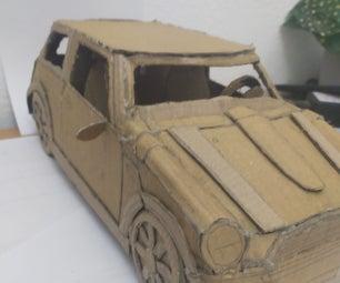 A Cardboard Mini Cooper