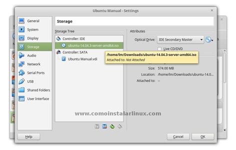 Mount the Ubuntu Server ISO File
