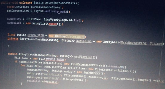 MainActivity.java -- Listing Audio