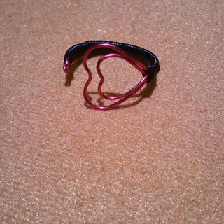 Twin Hearts Wire Ring for Your Valentine