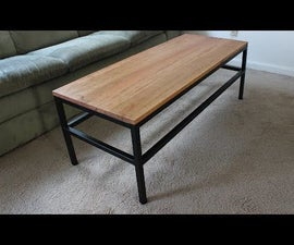 Industrial Coffee Table From Reclaimed Metal