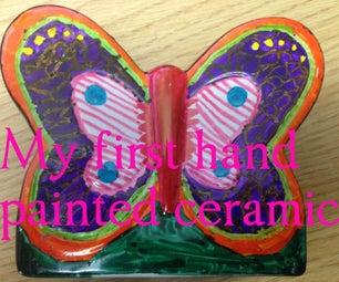 孩子们制造 - 手着色陶瓷蝴蝶