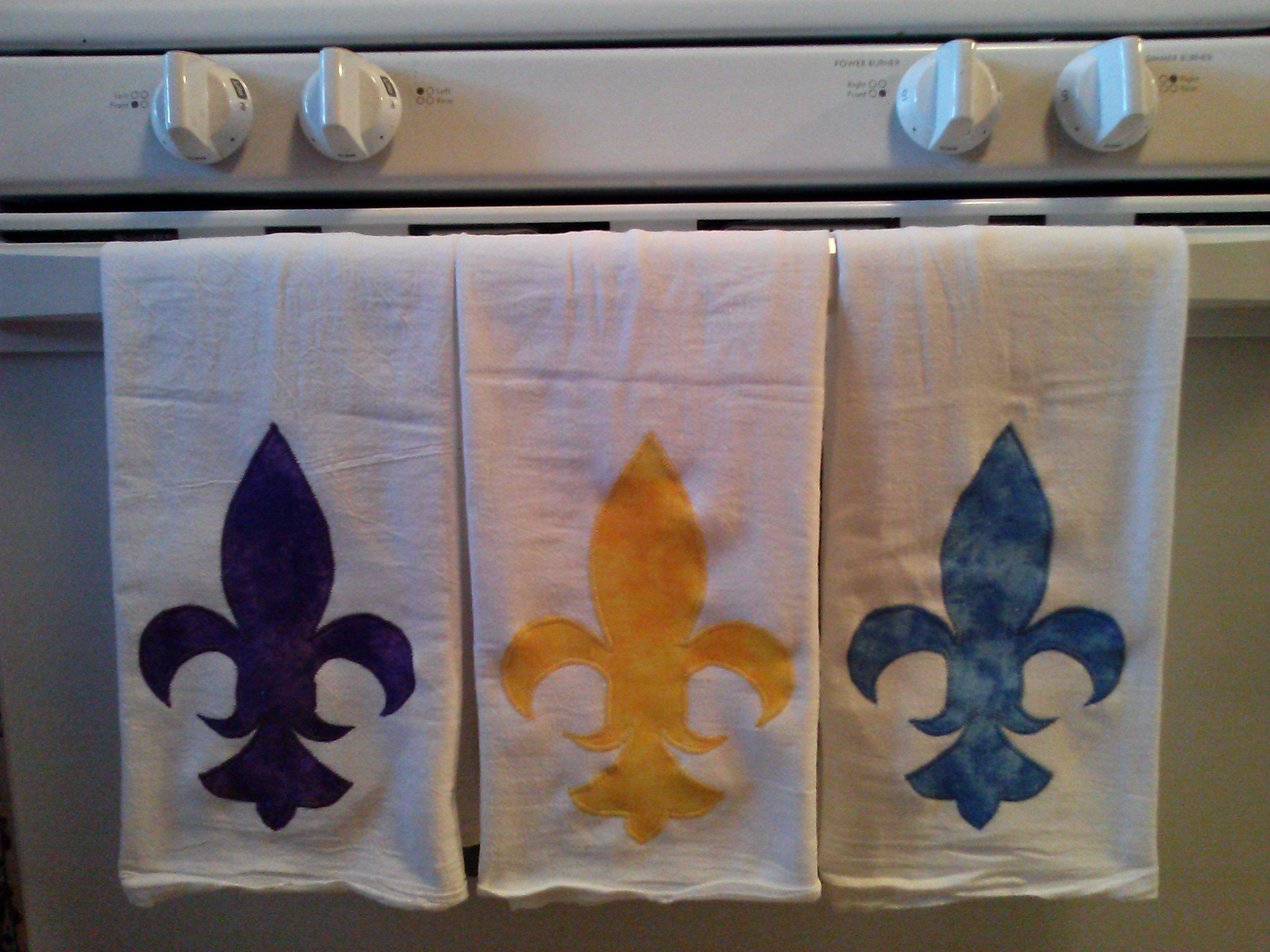 Appliqued Kitchen Towel