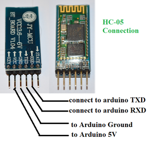 Circuit Connection of Arduino and Android Control Door Lock