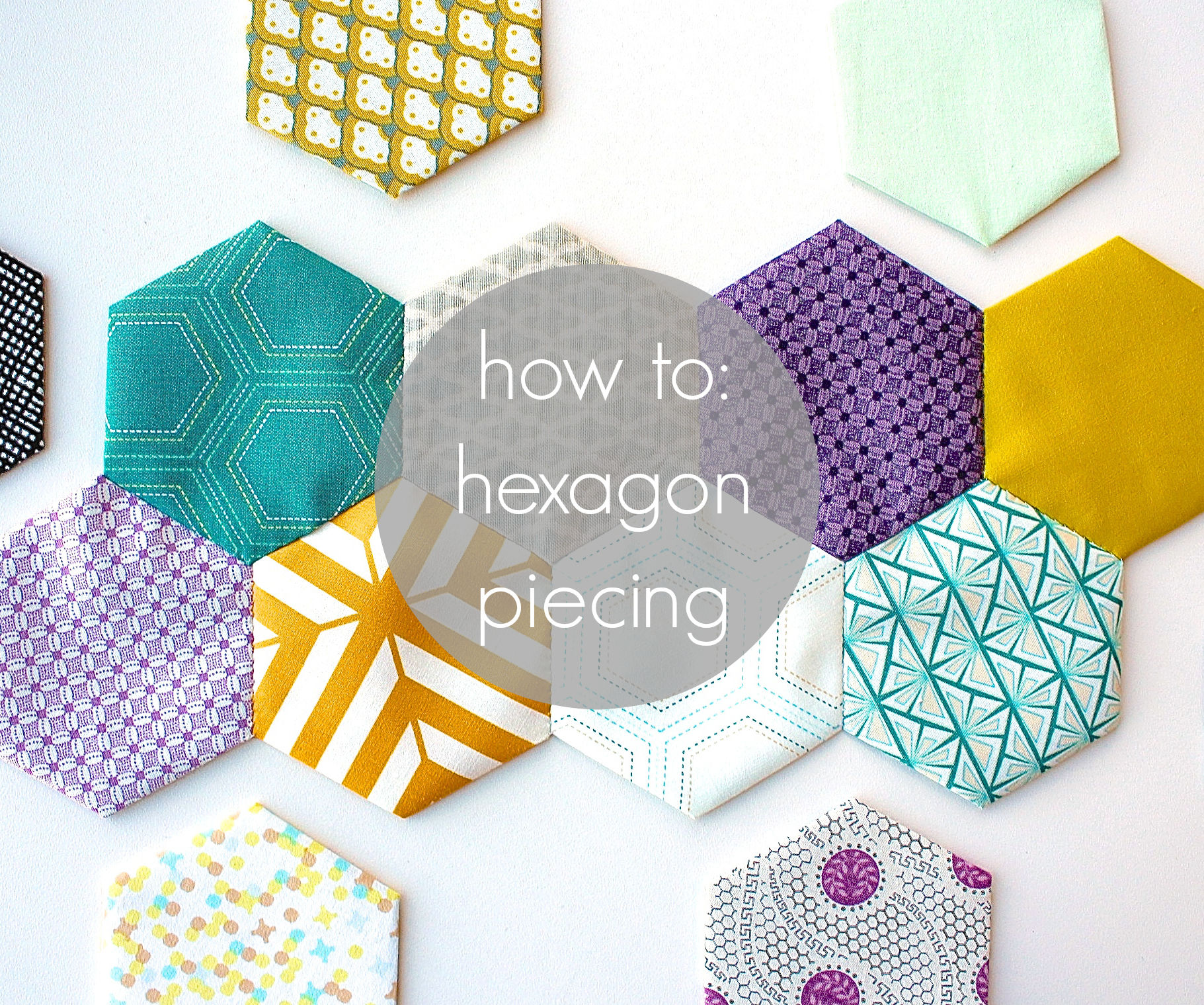 hexagon piecing tutorial