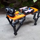 Baby MIT Cheetah Robot V2 Autonomous and RC