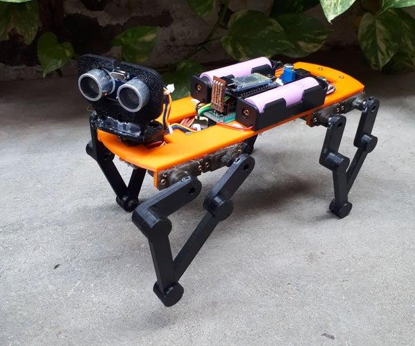 Baby MIT Cheetah Robot V2 Autonomous and RC
