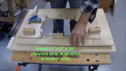 Preparing the Underside of the Old Router Table to Fit the Workmate Frame