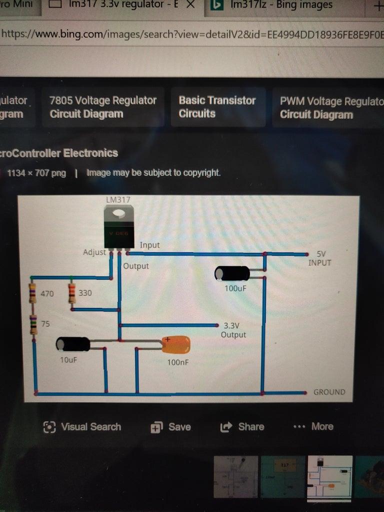 Build the 3.3V Voltage Regulator