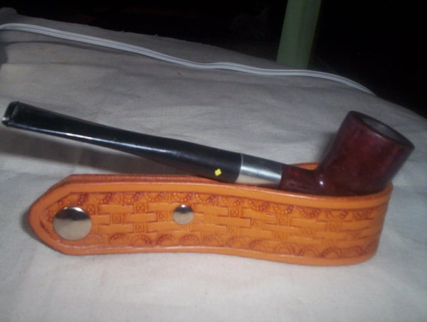Leather Pipe Display Stand