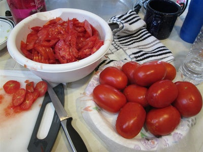 Cut Up Tomatoes