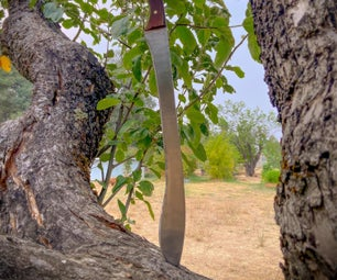 How to Make a Greek Kopis From Recycled Steel