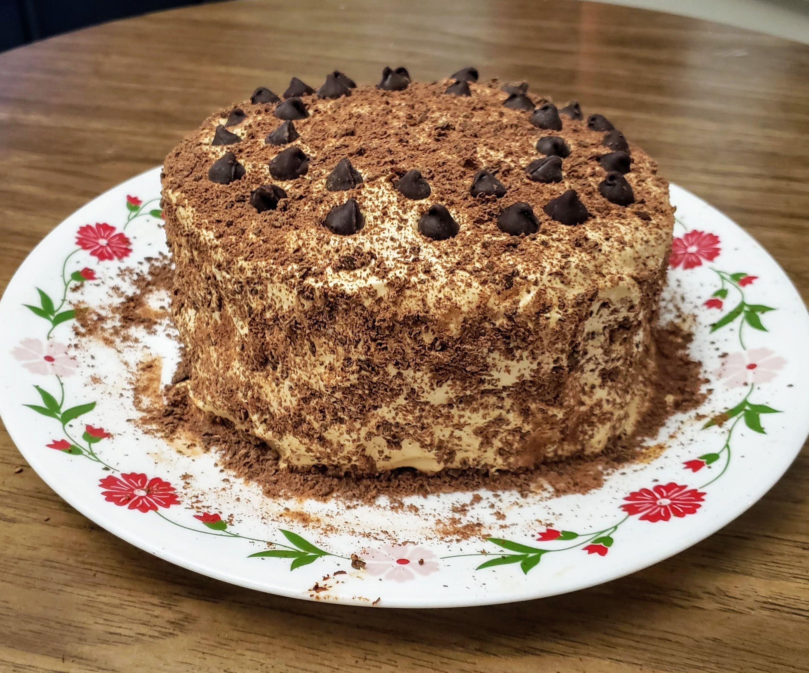 Dalgona Coffee Chocolate Cake (No Eggs, No Butter, No Cream)