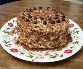 Dalgona Coffee Chocolate Cake (No Eggs, No Butter, No Cream)