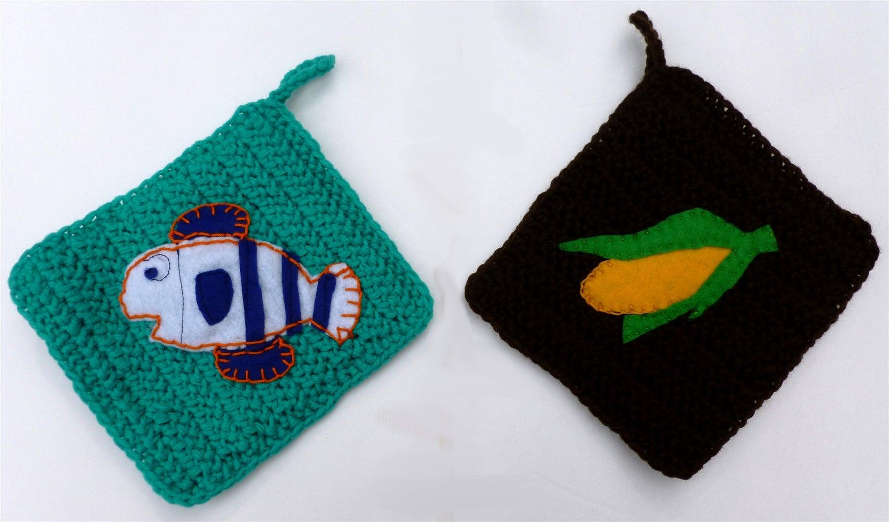 Crochet Potholder - Row Pattern