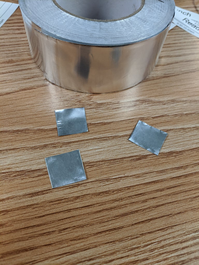 Cut Foil Tape and Secure on Card-stock