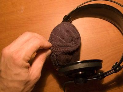 Wrap the Sock Onto the Earphones
