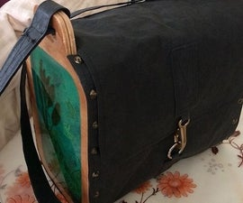 Bag Made of Wood and Vegan/faux Leather