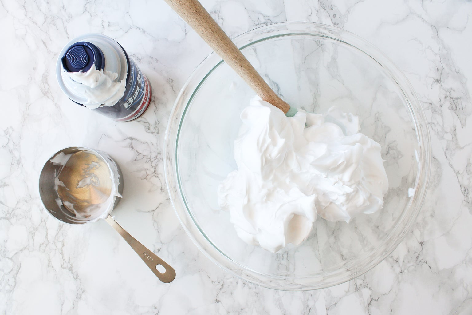 Measure Out 3 Cups of Shaving Cream