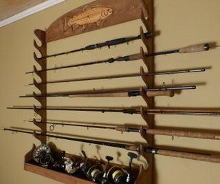 DIY Fishing Rod Storage Rack , Wallmounted