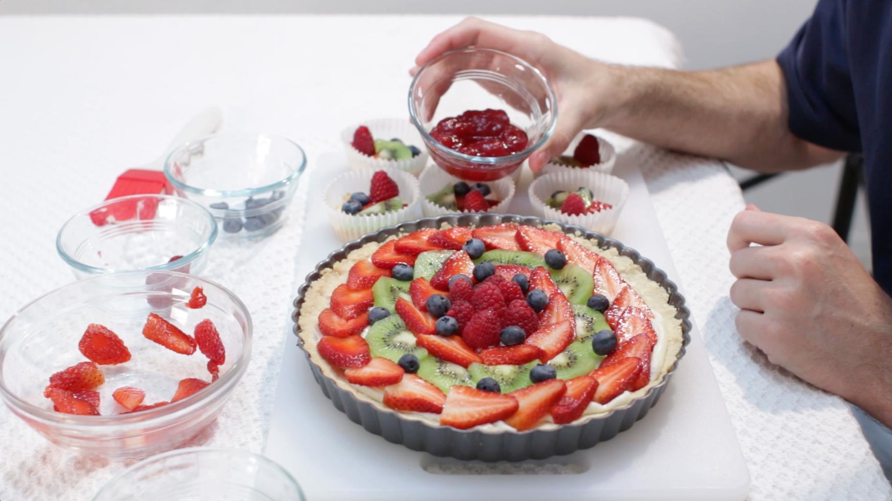 Make Glaze and Brush It on the Fruit