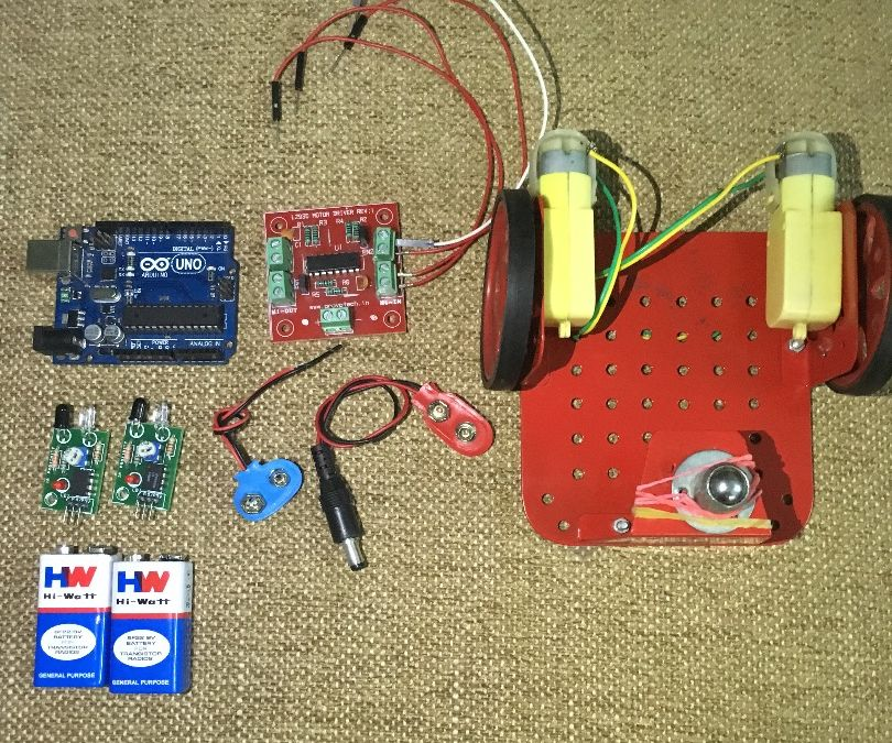 Obstacle Avoider Robot Using Arduino Uno And IR Proximity Sensor