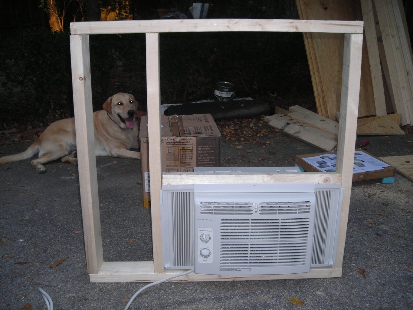 Rear Wall W/ Air Conditioner Support