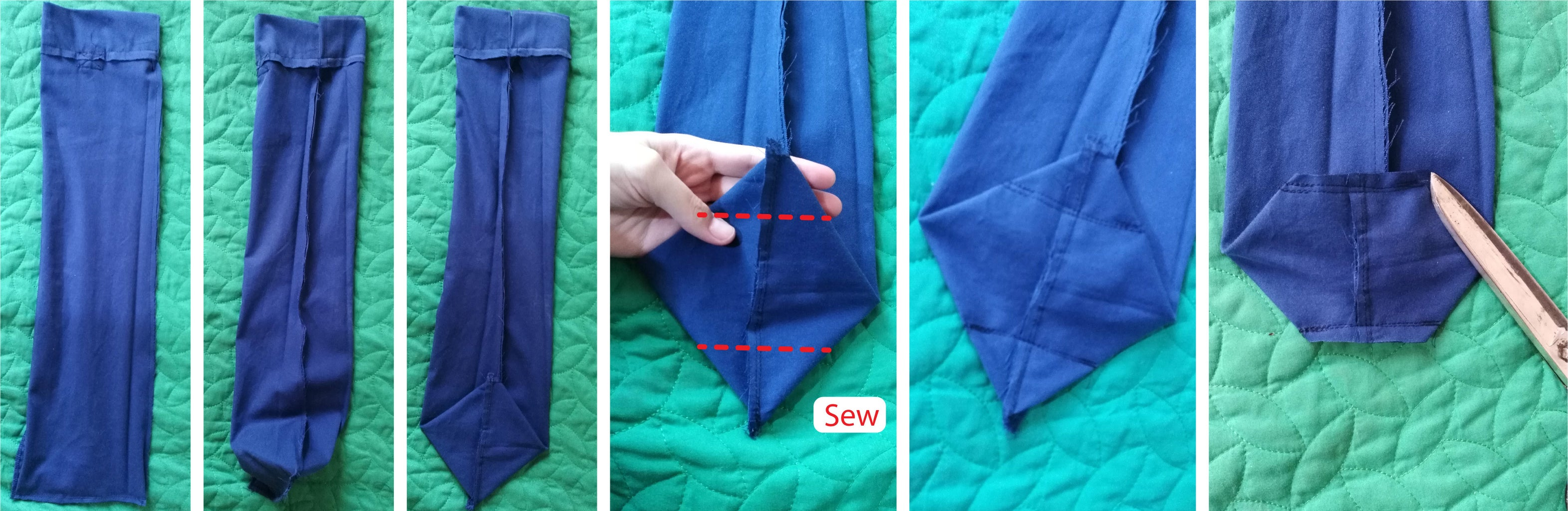 Giving a Square Shape to the Bottom