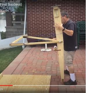World's Simplest and Newest Trebuchet (Walking Arm Trebuchet)