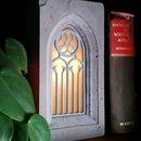Solar Concrete Gothic Window Lamp (Remix)