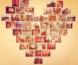 Heart Photo Wall.