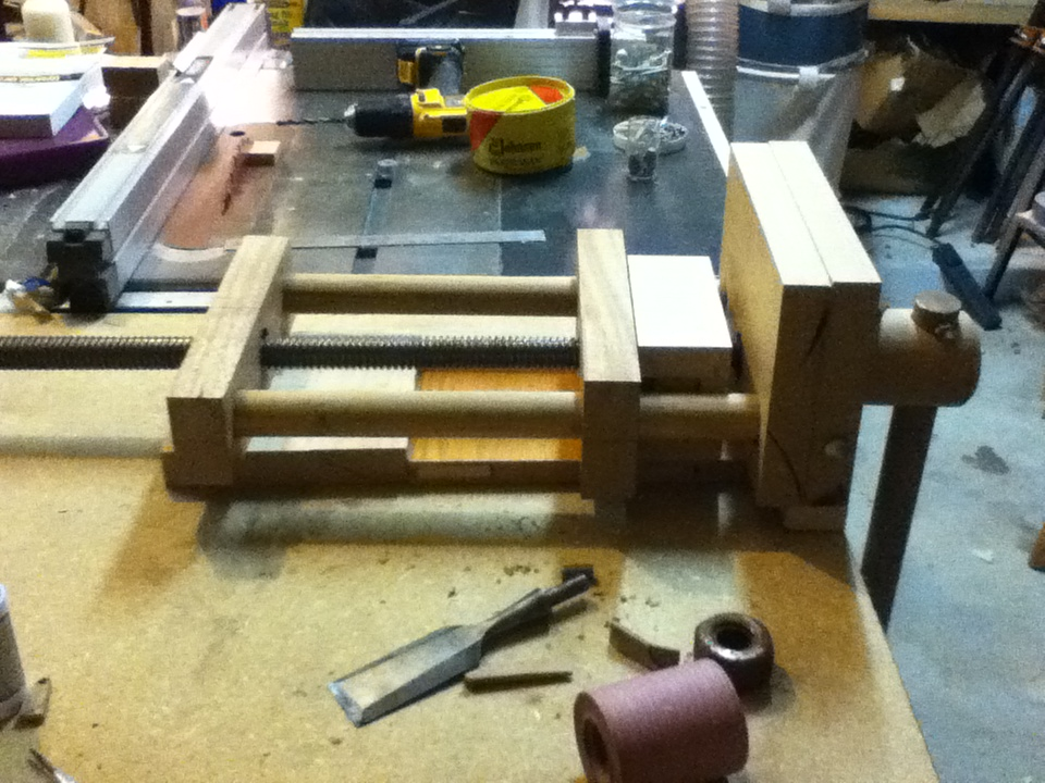 Shop made bench vice