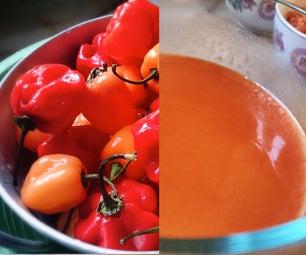 Homemade Habanero Sriracha Sauce