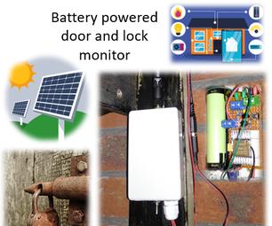 电池供电棚门和锁定传感器,Solar,ESP8266,ESP-NOW,MQTT