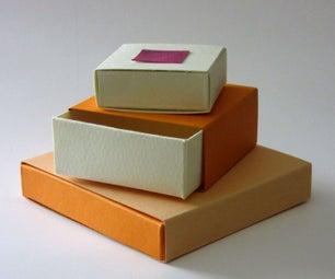 Simple Cardboard Sliding Gift or Storage Box