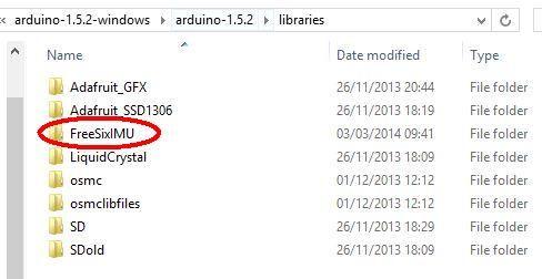 FreeSix IMU Library Installed