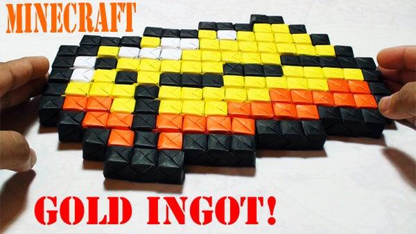 Minecraft Gold (BUDDER) Ingot Origami (Sonobe) Tutorial!
