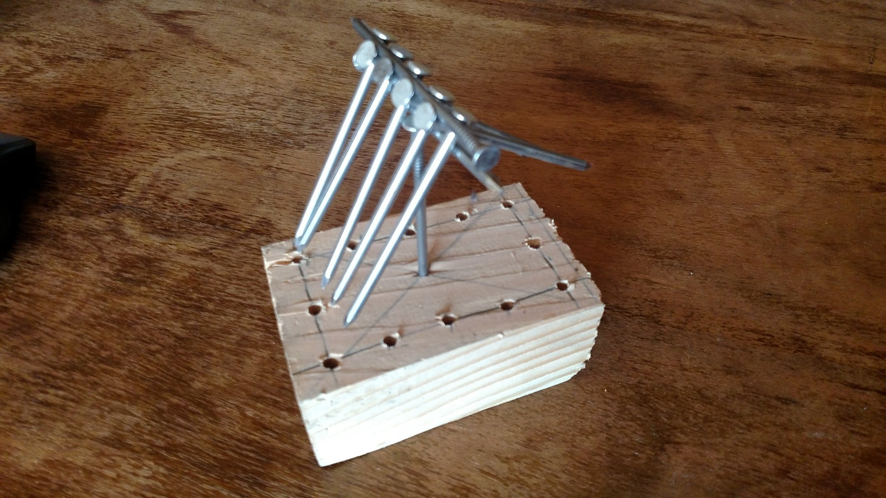 Wooden Nail Balance Project