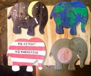 Elephant Shaped Coasters