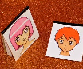 DIY Miniature Anime Inspired Sketchbooks