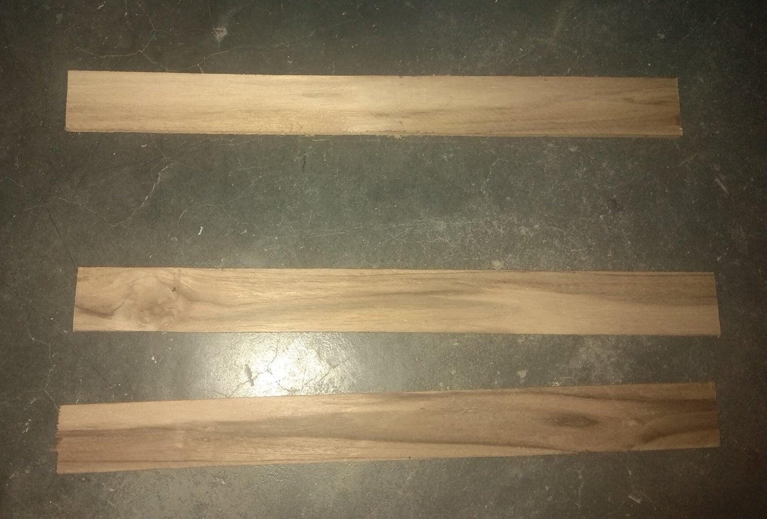 Cut Three Small Wood Pieces