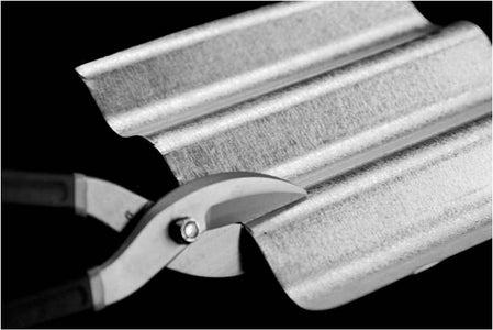 Cut Approximately 9 X 10 Inches of GI Sheet (corrugated or Flat)